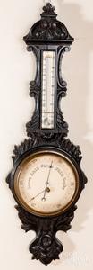 Victorian carved barometer