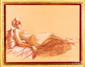 Pastel female nude