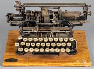 Munson 1 typewriter, copyright Sept. 17th, 1889,
