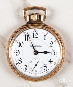 Gold filled Illinois open-face pocket watch