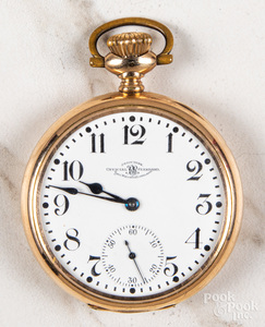 Gold filled Ball open-face pocket watch