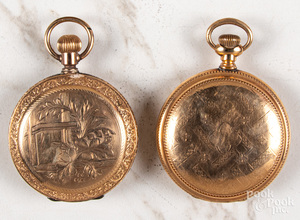 Two gold filled hunter case pocket watches
