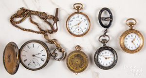 Group of ladies pocket watches