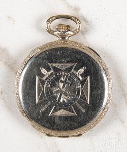 Gold filled Elgin open-face pocket watch