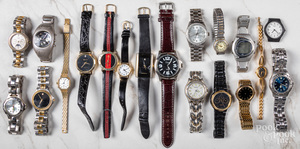 Assorted group of men and women's wristwatches