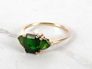 10K gold gemstone ring