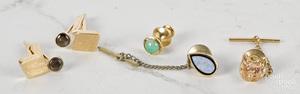 Group of 14K gold gemstone jewelry