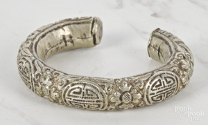 Chinese silver bangle bracelet