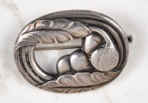 Georg Jensen sterling silver brooch