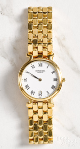 18K gold electroplated men's wristwatch