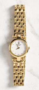 18K gold electroplated women's wristwatch