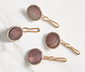 14K gold mother of pearl buttons