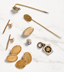Miscellaneous group of 14K gold jewelry