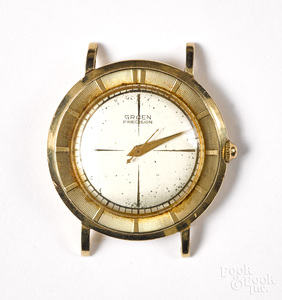 Gruen 14K gold wristwatch case.