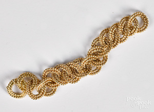 Verdura 14K yellow gold bracelet
