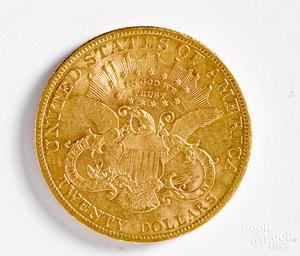 1900-S Liberty Head twenty dollar gold coin