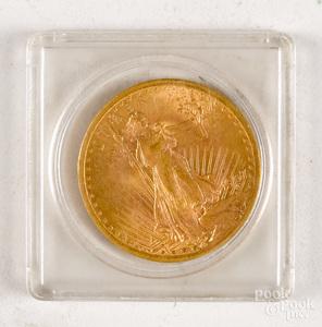 1907 St. Gaudens twenty dollar gold coin