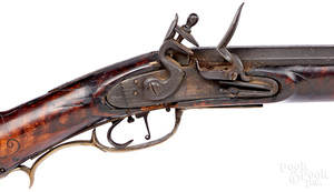 Full stock flintlock long rifle