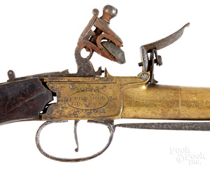 Nicholson, Corn Hill London flintlock pistol