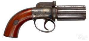 British bar hammer pepperbox pistol