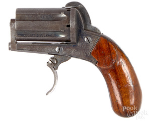 French pin fire pepperbox pistol