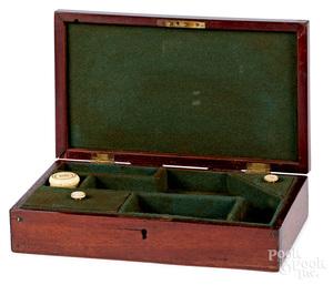 Fitted walnut pistol presentation box