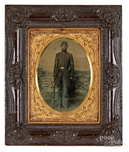 Civil War soldier tintype of a Union Corporal, etc.