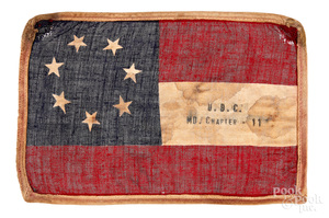 Scarce U.D.C. Civil War souvenir flag
