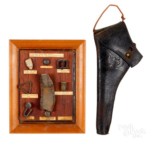 US leather Colt or Schofield holster, etc.
