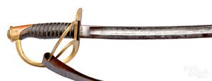 Civil War light cavalry saber and scabbard