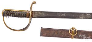 Confederate Nashville Plow Works Civil War saber