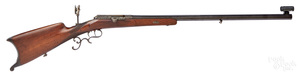 German engraved bolt action Schuetzen target rifle