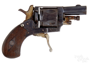 European folding trigger double action revolver