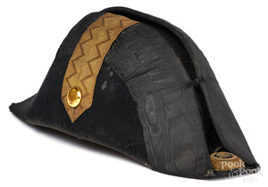 European fur bicorne hat