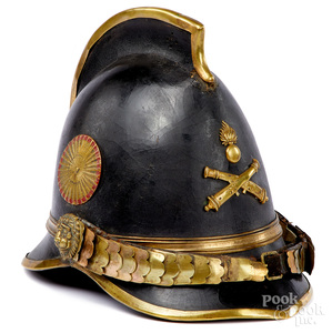French flaming bomb crested artillery helmet