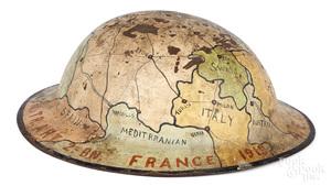 Identified WWI doughboy map helmet