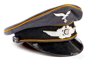German WWII Luftwaffe visor cap