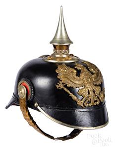 Prussian WWI leather pickelhaube officer helmet
