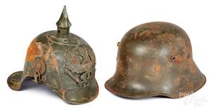 Prussian Kurassier Ersatz Jaeger helmet, etc.