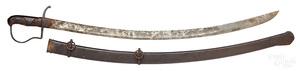 European sword and scabbard