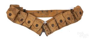 WWI US Army canvas web ammo belt