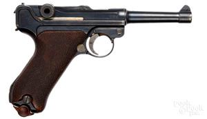 DWM German P-08 luger semi-automatic pistol