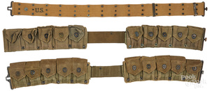 Two WWII US Army cartridge belts, etc.