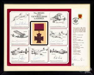 The Award of the Victorian Cross to Airmen poster