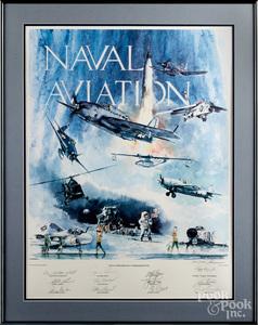 75th Anniv. Naval Aviation Commemorative poster
