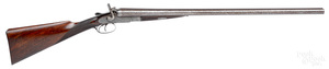 P. Webley & Son double barrel hammer shotgun