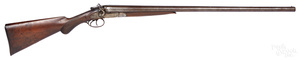 Belgian W. Richards double barrel shotgun