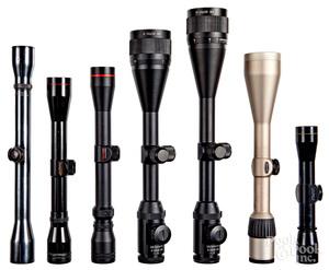 Seven rifle scopes