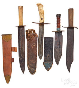 Four Bowie knives