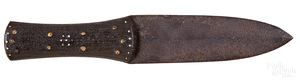 Native American Indian Dag spear point knife